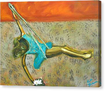 Canvas Print featuring the painting Canyon Road Sculpture by Keith Thue
