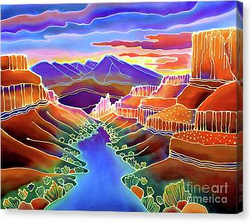 River Canvas Print - Canyon Sunrise by Harriet Peck Taylor