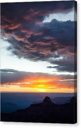 Canyon Sunset Canvas Print by Dave Bowman