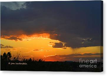 Canyon Sunset Canvas Print by Joan Hartenstein