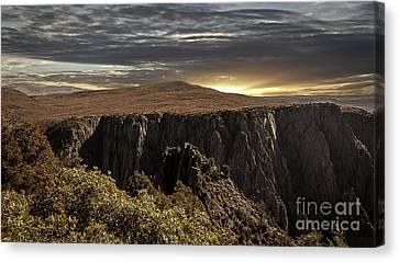 Canyon Twilight Canvas Print