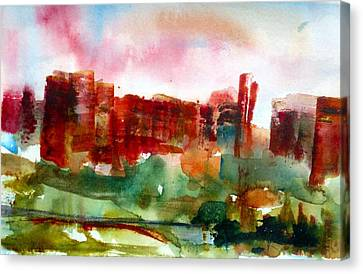 Canvas Print featuring the painting Canyonlands 03 by Anne Duke
