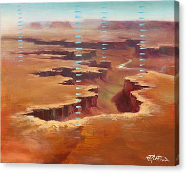 Canvas Print featuring the painting Canyonlands by Dave Platford