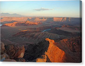 Canvas Print featuring the photograph Canyonlands Np Dead Horse Point 21 by Jeff Brunton