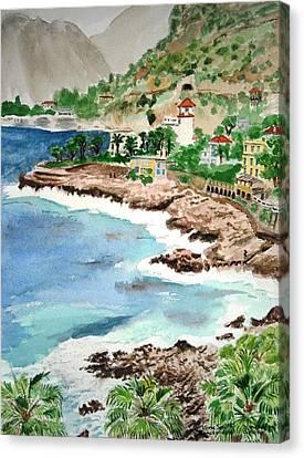 Cap D'ail On A Rainy Day Canvas Print