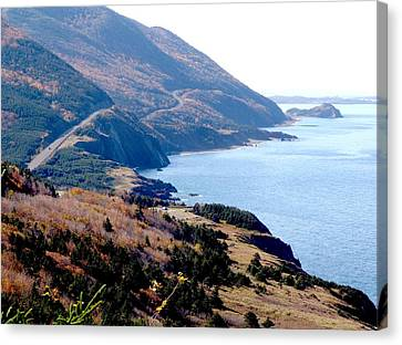Cap Rouge On The Cabot Trail Canvas Print by George Cousins