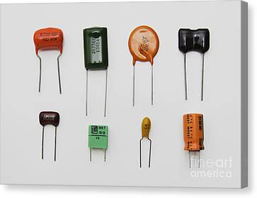 Electronic Component Canvas Print - Capacitors by GIPhotoStock