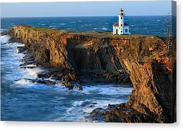 Coos Canvas Print - Cape Arago Lighthouse by Robert Bynum