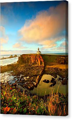 Cape Arrago Lighthouse1 Canvas Print by Joe Klune