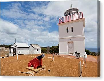 Cape Borda Light Station On Kangaroo Canvas Print by Martin Zwick