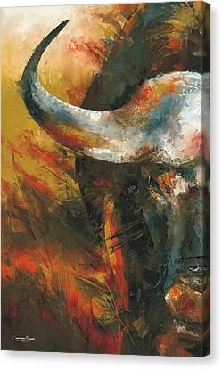 Cape Buffalo Canvas Print by Christiaan Bekker