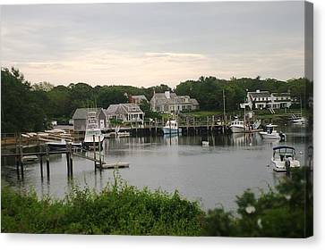 Canvas Print featuring the photograph Cape Cod At Dusk by Suzanne Powers