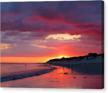 Cape Cod Bay At Sunrise Canvas Print by Dianne Cowen