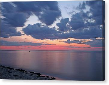 Sesuit Harbor Canvas Print - Cape Cod Bay Sunset by Juergen Roth