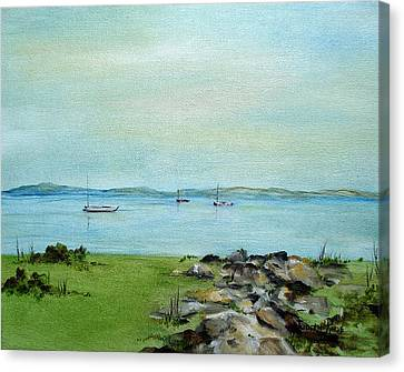 Cape Cod  Boats Canvas Print by Judith Rhue