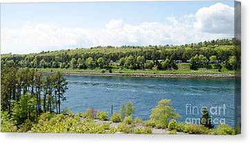 Cape Cod Canal Canvas Print by Andrea Anderegg