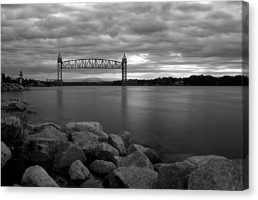 Canvas Print featuring the photograph Cape Cod Canal Train Bridge by Amazing Jules