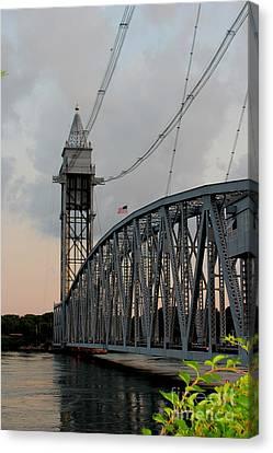 Cape Cod Canal Train Bridge Art Print Canvas Print