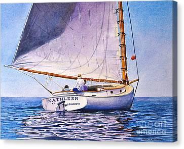 Cape Cod Catboat Canvas Print by Karol Wyckoff