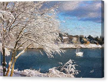 Cape Cod Canvas Print - Cape Cod Christmas by Michael Petrizzo