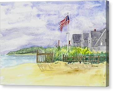 Massachusetts -cape Cod Cottages Canvas Print