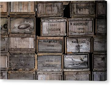 Cape Cod Cranberry Crates Canvas Print by Andrew Pacheco