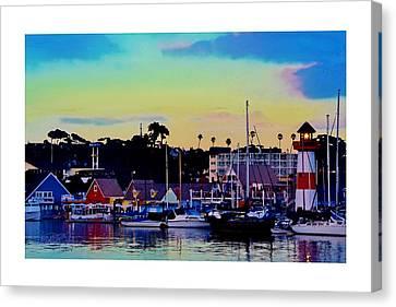 Restauraunt Canvas Print - Cape Cod Harbor by Sharon  Lavoie