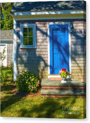 Cape Cod House Canvas Print by Diane Diederich