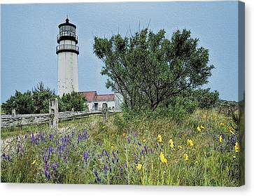 Cape Cod Lighthouse Canvas Print by John Haldane