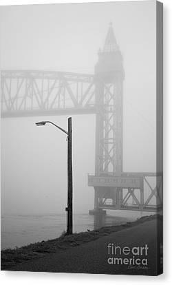 Cape Cod Railroad Bridge No. 3 Canvas Print by David Gordon