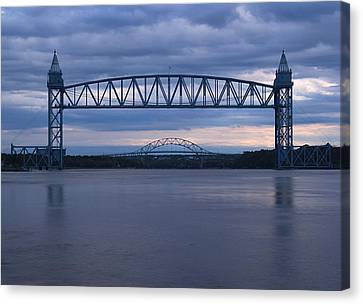 Cape Cod Train Bridge Canvas Print by Amazing Jules