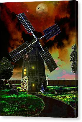 Colonial Man Canvas Print - Cape Cod Windmill by Michael Rucker