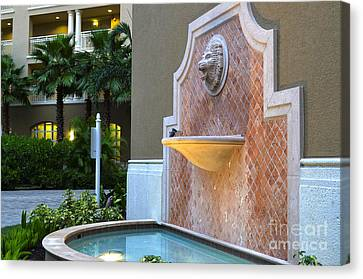 Cape Coral Florida Fountain Canvas Print by Timothy Lowry