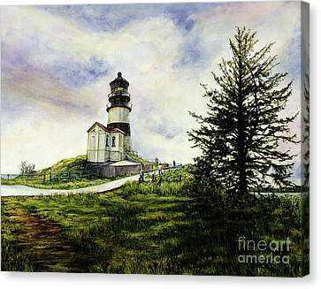 Cape Disappointment Lighthouse On The Washington Coast Canvas Print