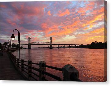 Canvas Print featuring the photograph Cape Fear Bridge by Cynthia Guinn