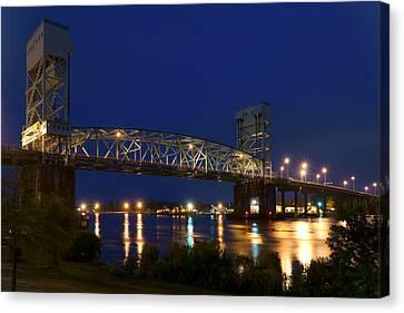 Cape Fear Memorial Bridge 2 - North Carolina Canvas Print by Mike McGlothlen