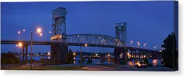 Cape Fear Memorial Bridge - Wilmington North Carolina Canvas Print by Mike McGlothlen