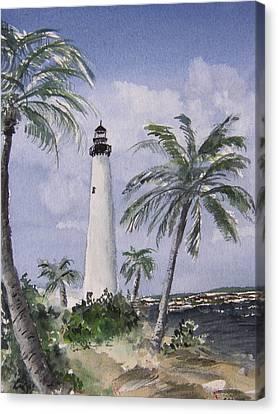 Cape Florida Light Canvas Print by Stephanie Sodel