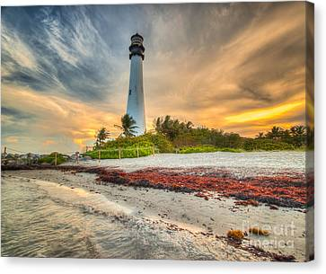 Cape Florida Lighthouse Canvas Print by George Kenhan