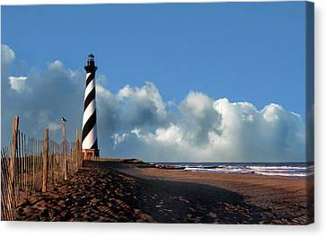 Cape Hatteras Lighthouse Nc Canvas Print by Skip Willits