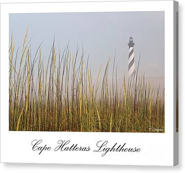 Cape Hatteras Lighthouse In The Fog Canvas Print