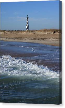 Canvas Print featuring the photograph Cape Hatteras Lighthouse Nc by Mountains to the Sea Photo