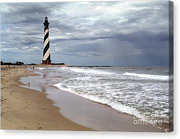 Canvas Print featuring the photograph Cape Hatteras Lighthouse by Tom Brickhouse
