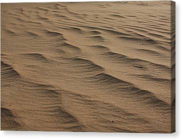 Canvas Print featuring the photograph Cape Hatteras Ripples In The Sand-north Carolina by Mountains to the Sea Photo