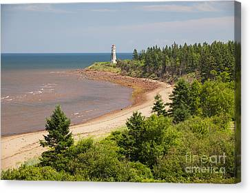 Cape Jourimain Lighthouse In New Brunswick Canvas Print
