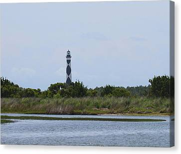 Cape Lookout Light 2014 17 Canvas Print by Cathy Lindsey