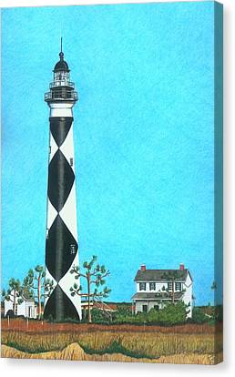 Cape Lookout Lighthouse Canvas Print by Karen Rhodes