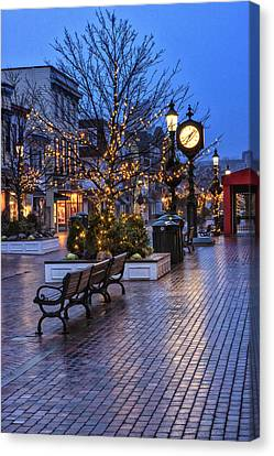 Cape May Christmas Canvas Print by Tom Singleton