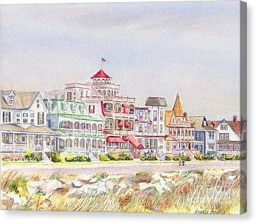 Cape May Promenade Cape May New Jersey Canvas Print by Pamela Parsons