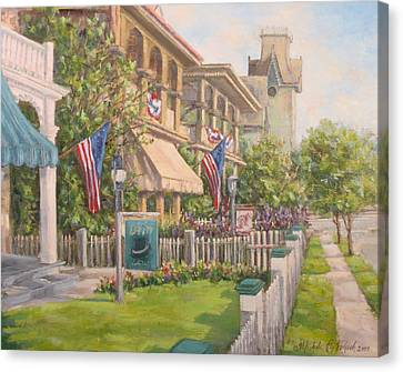 Cape May Street Scene Canvas Print by Michele Tokach